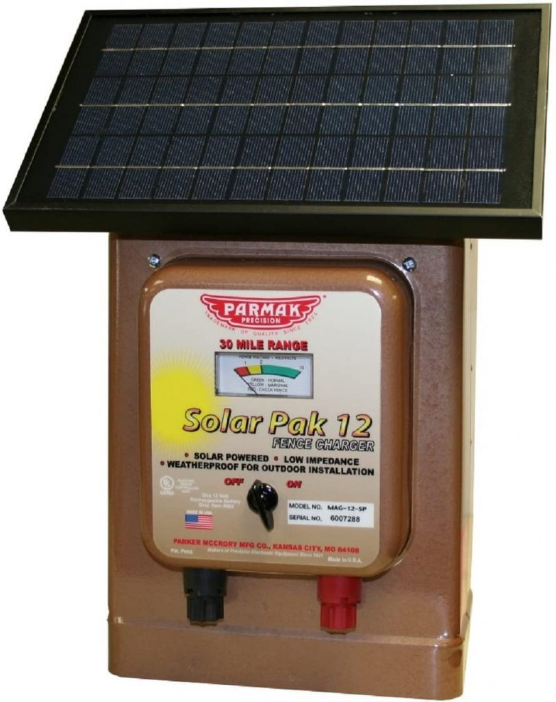 Parmak Magnum Solar-Pak 12 Low Impedance 12 Volt Battery Operated 30 Mile Range Electric Fence Charger